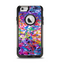 The Neon Overlapping Squiggles Apple iPhone 6 Otterbox Commuter Case Skin Set