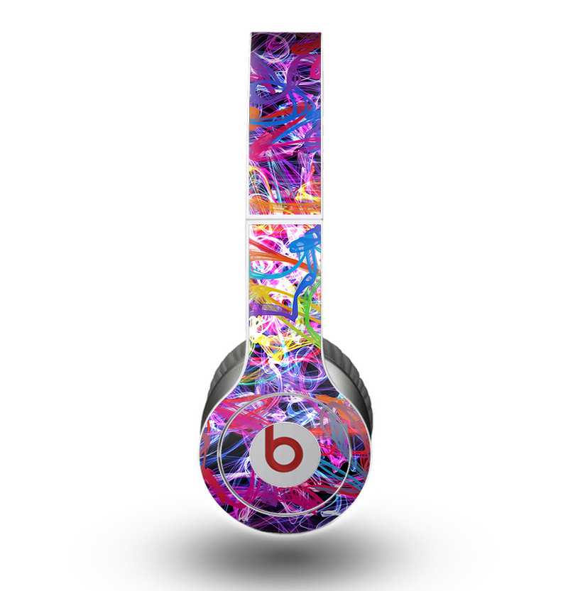 The Neon Overlapping Squiggles Skin for the Beats by Dre Original Solo-Solo HD Headphones