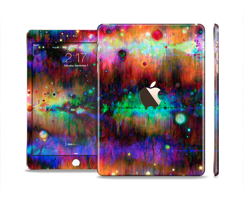The Neon Paint Mixtured Surface Full Body Skin Set for the Apple iPad Mini 3