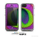 The Neon Peacock Feather Skin for the Apple iPhone 5c LifeProof Case