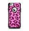 The Neon Pink Cheetah Animal Print Apple iPhone 6 Otterbox Commuter Case Skin Set