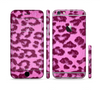 The Neon Pink Cheetah Animal Print Sectioned Skin Series for the Apple iPhone 6 Plus