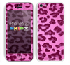 The Neon Pink Cheetah Animal Print Skin for the Apple iPhone 5c