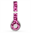 The Neon Pink Cheetah Animal Print Skin for the Beats by Dre Solo 2 Headphones