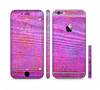 The Neon Pink Dyed Wood Grain Sectioned Skin Series for the Apple iPhone 6