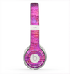 The Neon Pink Dyed Wood Grain Skin for the Beats by Dre Solo 2 Headphones