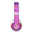 The Neon Pink Dyed Wood Grain Skin for the Beats by Dre Studio (2013+ Version) Headphones