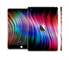 The Neon Rainbow Wavy Strips Full Body Skin Set for the Apple iPad Mini 3