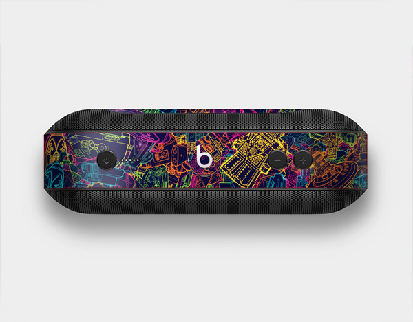 The Neon Robots Skin Set for the Beats Pill Plus