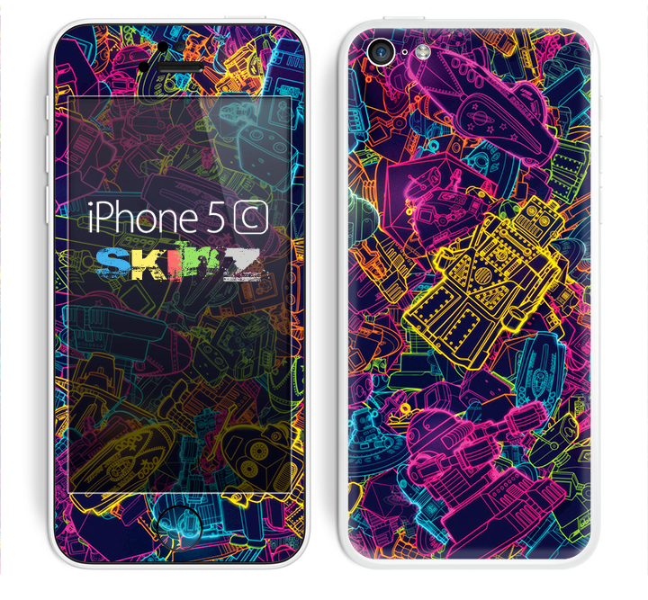 The Neon Robots Skin for the Apple iPhone 5c