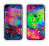 The Neon Splatter Universe Apple iPhone 6 Plus LifeProof Nuud Case Skin Set