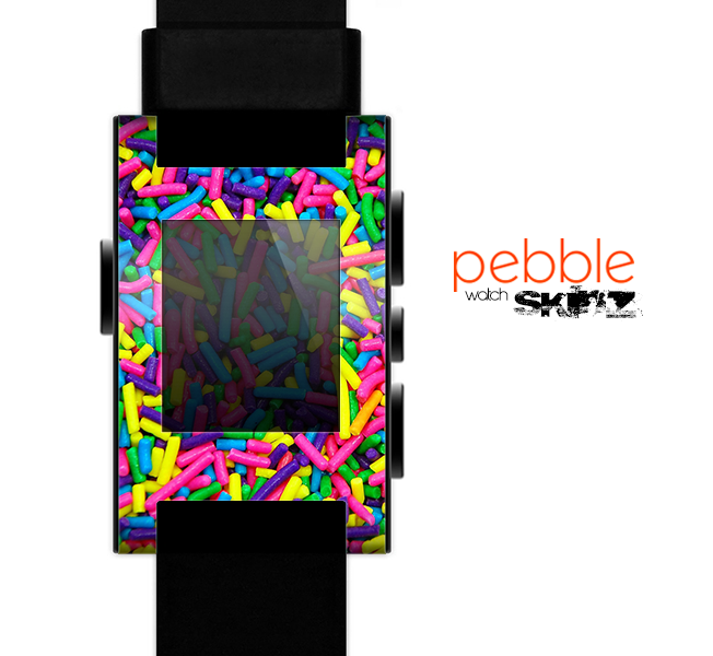 The Neon Sprinkles Skin for the Pebble SmartWatch