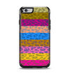 The Neon Striped Cheetah Animal Print Apple iPhone 6 Otterbox Symmetry Case Skin Set