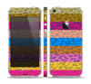 The Neon Striped Cheetah Animal Print Skin Set for the Apple iPhone 5