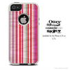 The Neon Striped Vintage Skin For The iPhone 4-4s or 5-5s Otterbox Commuter Case