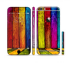 The Neon Wood Color-Planks Sectioned Skin Series for the Apple iPhone 6 Plus