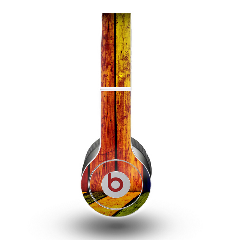The Neon Wood Color-Planks Skin for the Beats by Dre Original Solo-Solo HD Headphones