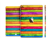 The Neon Wood Planks Full Body Skin Set for the Apple iPad Mini 3
