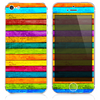 The Neon Wood Planks V7 Skin for the iPhone 3, 4-4s, 5-5s or 5c