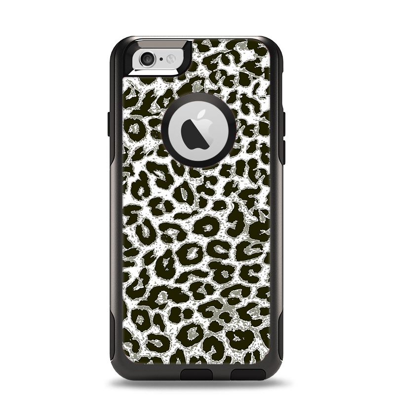 The Neutral Cheetah Print Vector V3 Apple iPhone 6 Otterbox Commuter Case Skin Set