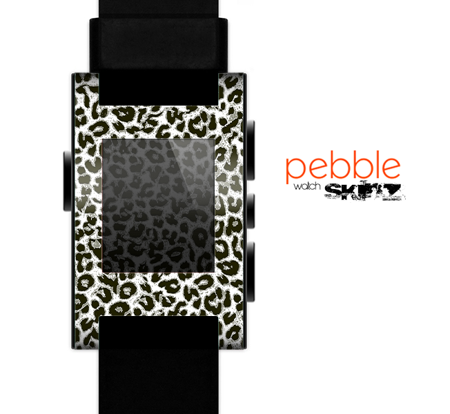 The Neutral Cheetah Print Vector V3 Skin for the Pebble SmartWatch