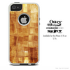 The Orange Abstract Textured Skin For The iPhone 4-4s or 5-5s Otterbox Commuter Case