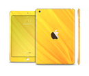 The Orange Abstract Wave Texture Full Body Skin Set for the Apple iPad Mini 3