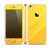The Orange Abstract Wave Texture Skin Set for the Apple iPhone 5