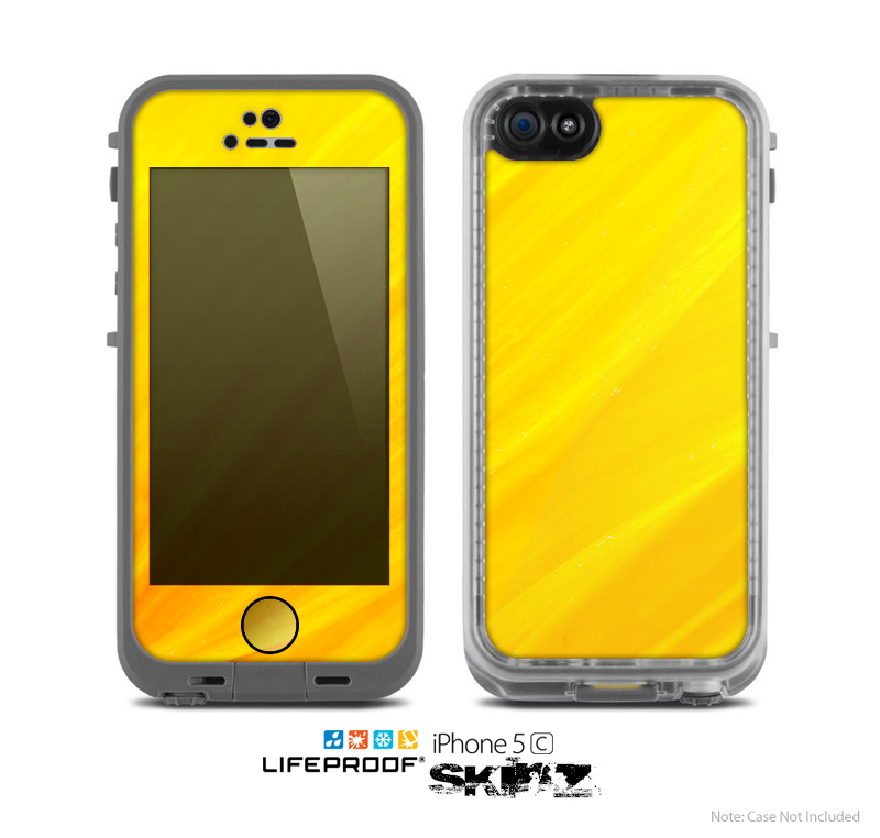 The Orange Abstract Wave Texture Skin for the Apple iPhone 5c LifeProof Case