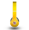 The Orange Abstract Wave Texture Skin for the Beats by Dre Original Solo-Solo HD Headphones