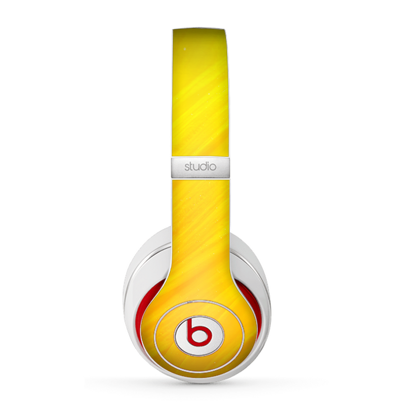 The Orange Abstract Wave Texture Skin for the Beats by Dre Studio (2013+ Version) Headphones