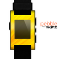 The Orange Abstract Wave Texture Skin for the Pebble SmartWatch