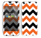 The Orange & Black Chevron Pattern Skin for the Apple iPhone 5c