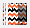 The Orange & Black Chevron Pattern Skin for the Apple iPhone 6