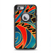 The Orange & Blue Abstract Shapes Apple iPhone 6 Otterbox Defender Case Skin Set