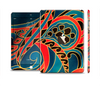 The Orange & Blue Abstract Shapes Full Body Skin Set for the Apple iPad Mini 3