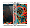 The Orange & Blue Abstract Shapes Skin Set for the Apple iPhone 5