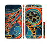 The Orange & Blue Abstract Shapes Sectioned Skin Series for the Apple iPhone 6