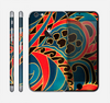The Orange & Blue Abstract Shapes Skin for the Apple iPhone 6