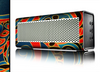 The Orange & Blue Abstract Shapes Skin for the Braven 570 Wireless Bluetooth Speaker
