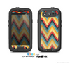 The Orange & Blue Chevron Textured Skin For The Samsung Galaxy S3 LifeProof Case