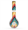 The Orange & Blue Chevron Textured Skin for the Beats by Dre Solo 2 Headphones