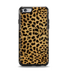 The Orange Cheetah Fur Pattern Apple iPhone 6 Otterbox Symmetry Case Skin Set