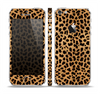 The Orange Cheetah Fur Pattern Skin Set for the Apple iPhone 5