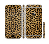 The Orange Cheetah Fur Pattern Sectioned Skin Series for the Apple iPhone 6 Plus