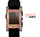 The Orange Color Whirl Skin for the Pebble SmartWatch