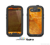 The Orange Cracked & Scratched Surface Skin For The Samsung Galaxy S3 LifeProof Case