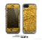 The Orange Cracked Surface Skin for the Apple iPhone 5c LifeProof Case