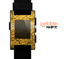 The Orange Cracked Surface Skin for the Pebble SmartWatch