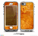 The Orange Cracked & Scratched Surface Skin for the iPhone 5-5s NUUD LifeProof Case for the lifeproof skins